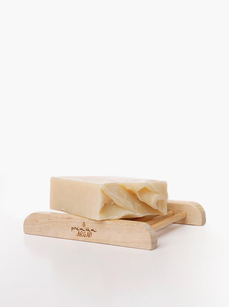 Handmade Argan soap Hamam + Soap rack