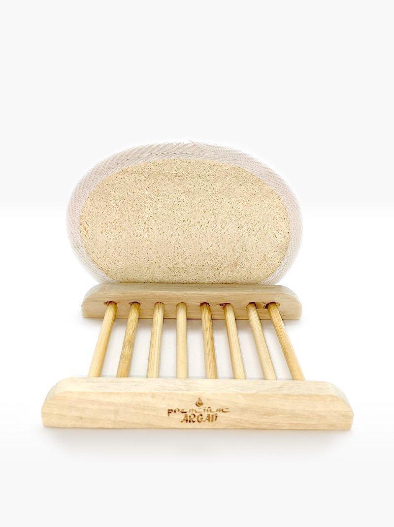 Exfoliating glove + Soap rack